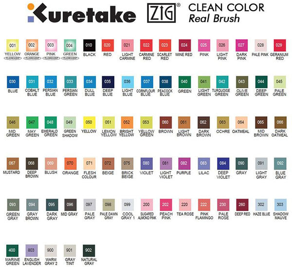 Kuretake ZIG Clean Color Real Brush Pen
