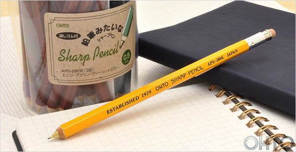 Ohto Wooden Mechanical Pencil - Mustard Yellow