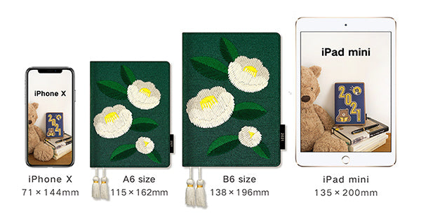 Papermood Planner Cover - White Camellia - B6
