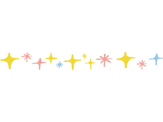 Plus Petit Deco Rush Decoration Tape - Shiny Star - 6 mm