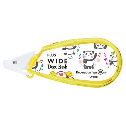 Plus Petit Deco Rush Wide Decoration Tape - Happy Panda - 10 mm - Decoration Tape - bunbougu.com.au