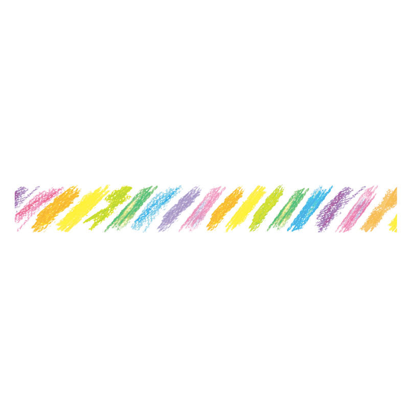 Plus Petit Deco Rush Wide Decoration Tape - Crayon Rainbow - 10 mm