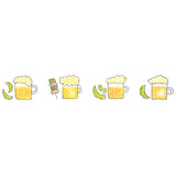 Plus Petit Deco Rush Decoration Tape - Beer and Tapas - 6 mm - Decoration Tapes - bunbougu.com.au