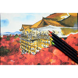 Akashiya Sai Watercolor Brush Pen - 20 Color Set - Bunbougu