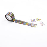 Bande DIY Masking Tape Flowers Stickers - Butterfly