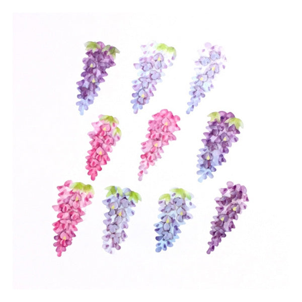 Bande DIY Masking Tape Flowers Stickers - Wisteria