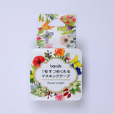 Bande DIY Masking Tape Stickers - Flower Wreath - Decoration Stickers - bunbougu.com.au
