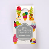 Bande DIY Masking Tape Stickers - Ice Cream - Decoration Stickers - bunbougu.com.au