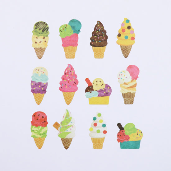 Bande DIY Masking Tape Stickers - Ice Cream