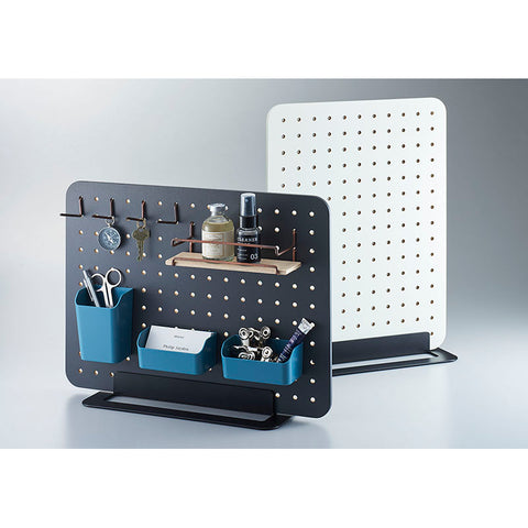 King Jim Peggy Standing Pegboard Shelf System - Off White