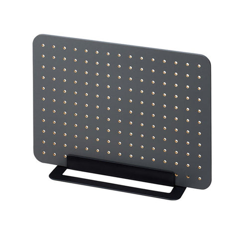 King Jim Peggy Standing Pegboard Shelf System - Charcoal Black