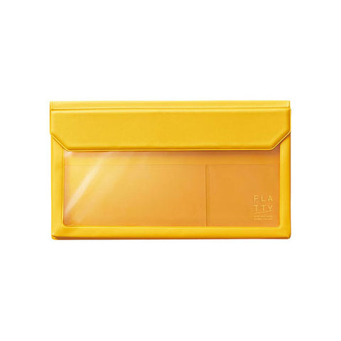 King Jim Flatty Transparent Bag in Bag - Yellow - Large Envelope - Bags - bunbougu.com.au