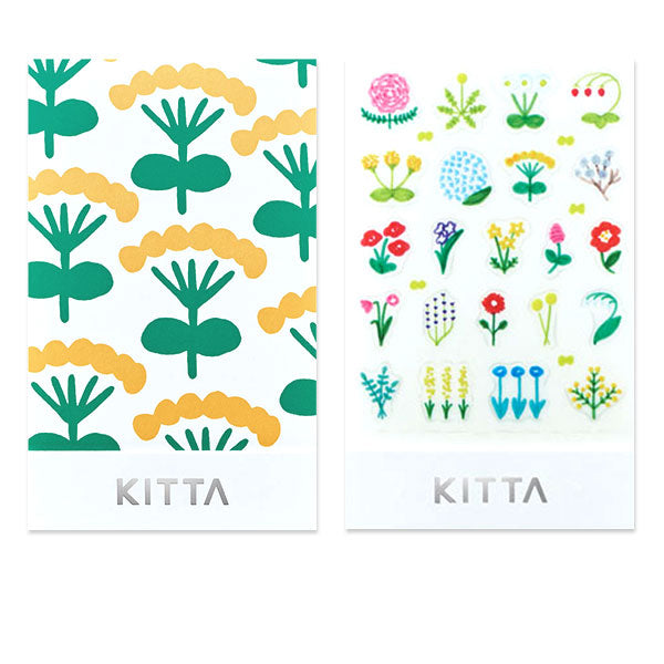 King Jim Kitta Seal Sticker - Flower - Washi Tape - bunbougu.com.au