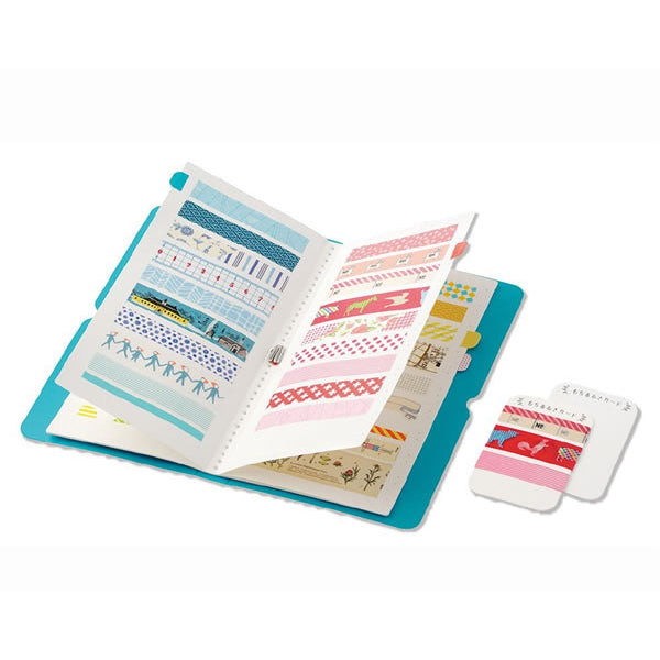 King Jim Seal Collection Book for Washi Tape - Salmon Pink