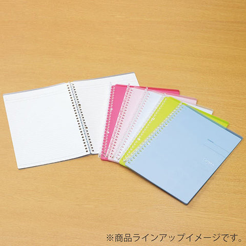 Kokuyo Campus Smart Ring Binder Notebook - B5 - 26 Rings - 60 Sheets Capacity - Light Pink