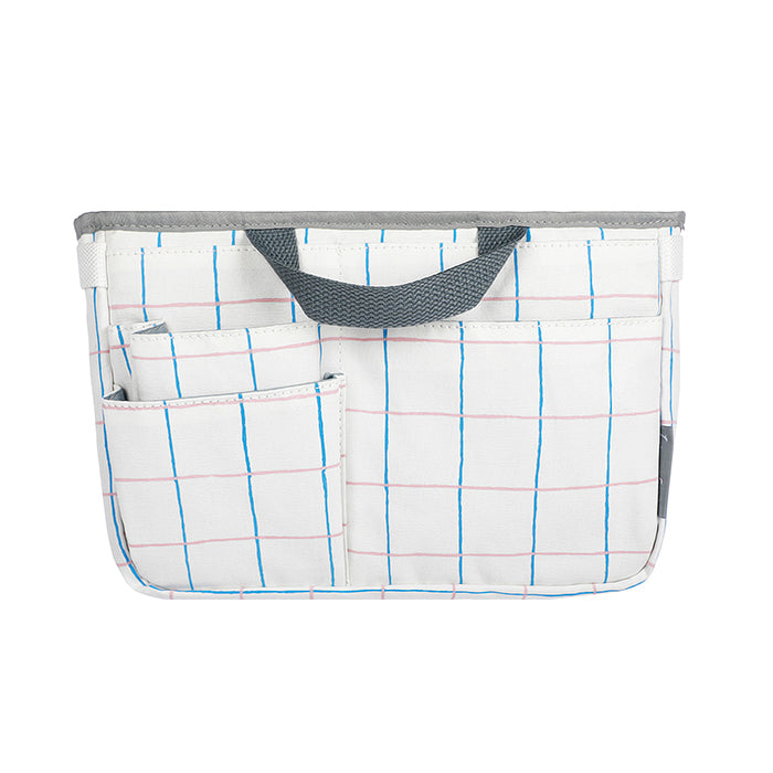 Kokuyo Line Field Bizrack-R Bag - Blue and Red Grid