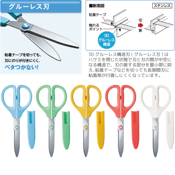 Kokuyo Saxa Scissors - Green