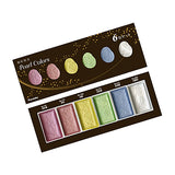 Kuretake Gansai Tambi Watercolor Palette - Pearl Colors - 6 Color Set - Watercolors - bunbougu.com.au