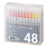 Kuretake Zig Clean Color Real Watercolor Brush Pen - 48 Color Set - Brush Pens - bunbougu.com.au