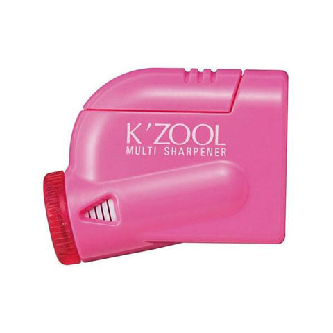 Kutsuwa Kezuru K'Zool 5 Stage Pencil Sharpener - Pink - Pencil Sharpener - bunbougu.com.au