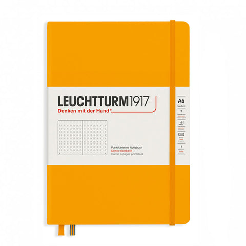 Leuchtturm1917 Medium Hardcover Notebook 2021 New Colour - Dotted - Rising Sun - A5