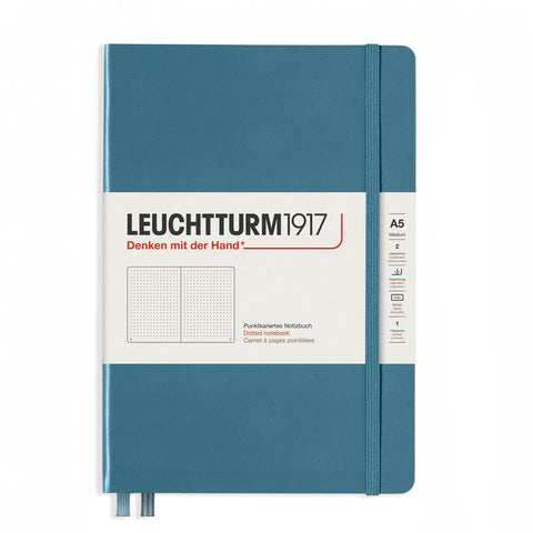 Leuchtturm1917 Medium Hardcover Notebook 2021 New Colour - Dotted - Stone Blue - A5