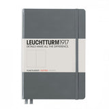 Leuchtturm1917 Medium Hardcover Notebook - Dotted - Anthracite Gray - A5 - Notebook - bunbougu.com.au