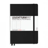 Leuchtturm1917 Medium Hardcover Notebook - Dotted - Black - A5 - Notebook - bunbougu.com.au