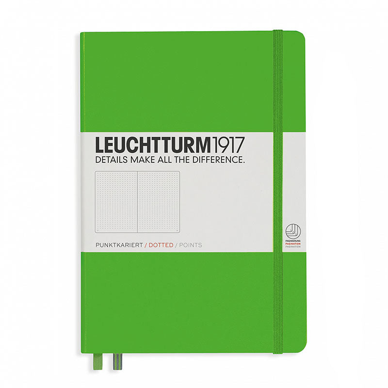 Leuchtturm1917 Medium Hardcover Notebook - Dotted - Fresh Green - A5