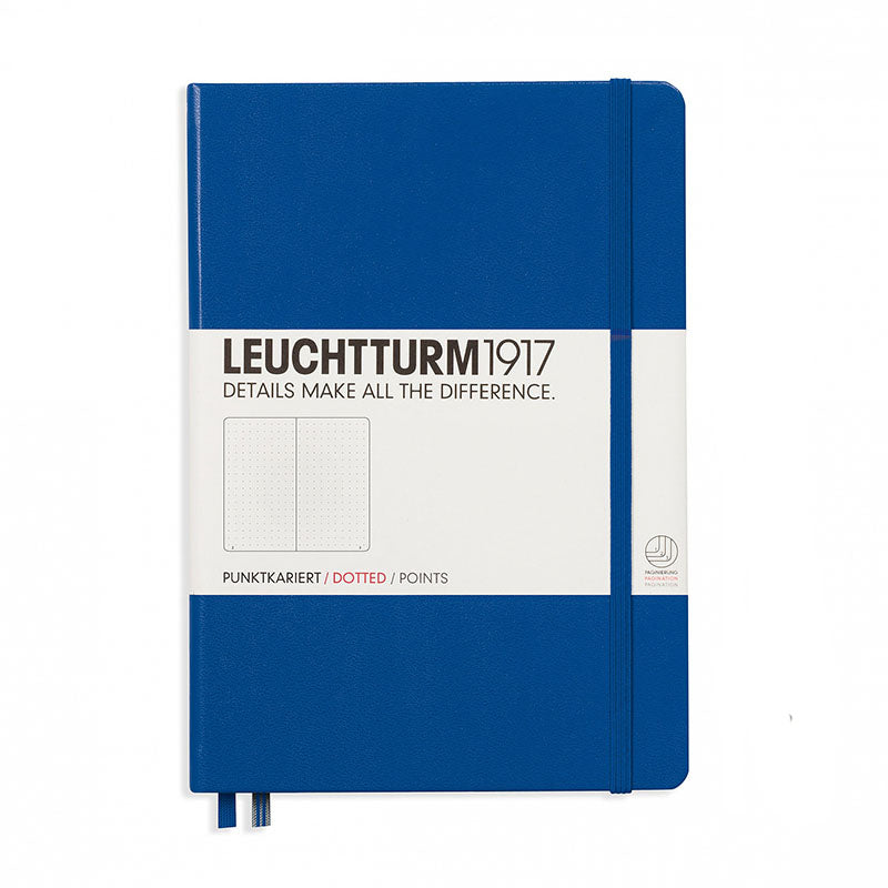 Leuchtturm1917 Medium Hardcover Notebook - Dotted - Royal Blue - A5 - Notebook - bunbougu.com.au