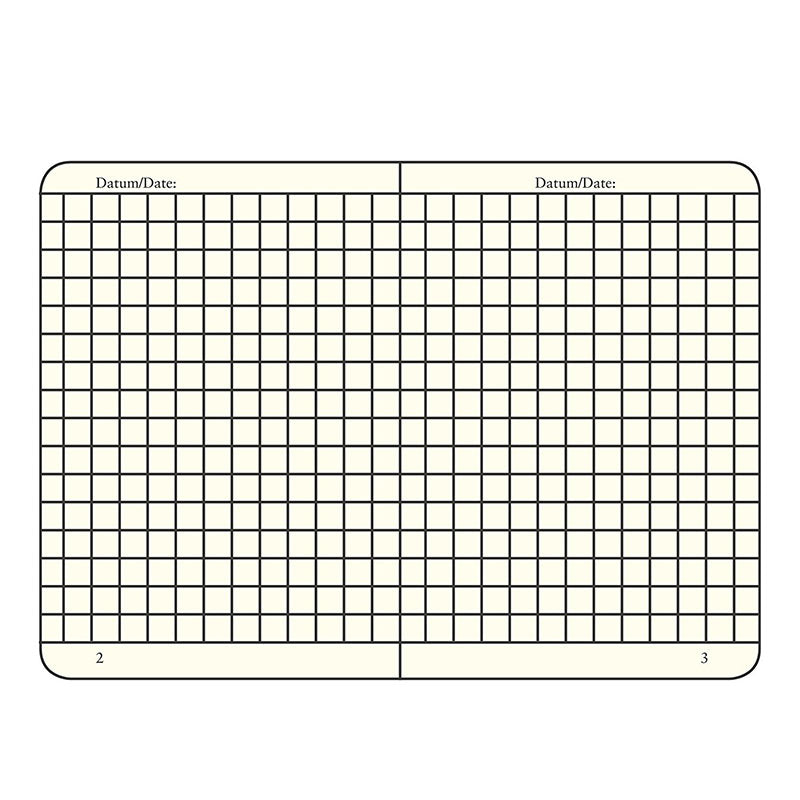 Leuchtturm1917 Medium Hardcover Notebook - Grid - Black - A5