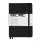 Leuchtturm1917 Medium Hardcover Notebook - Grid - Black - A5 - Notebooks - bunbougu.com.au