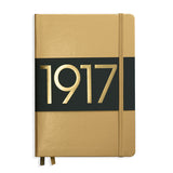 Leuchtturm1917 Metallic Limited Edition Hardcover Notebook - Ruled - Gold - A5 - Notebook - bunbougu.com.au