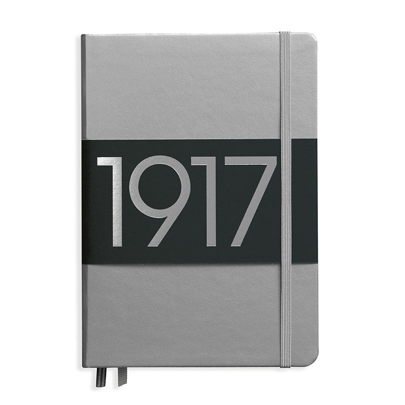 Leuchtturm1917 Metallic Limited Edition Hardcover Notebook - Dotted - Silver - A5 - Notebook - bunbougu.com.au