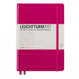Leuchtturm1917 Medium Hardcover Notebook - Ruled - Berry - A5 - Notebook - bunbougu.com.au