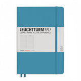Leuchtturm1917 Medium Hardcover Notebook - Ruled - Nordic Blue - A5 - Notebook - bunbougu.com.au