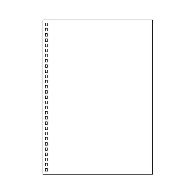 Lihit Lab Twist Ring Notebook Loose Leaf Paper - 29 Holes/30 sheets - Plain - B5