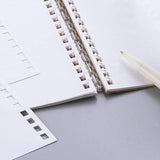 Lihit Lab Twist Ring Notebook Loose Leaf Paper - 29 Holes/30 sheets - Plain - B5 - Loose Leaf Paper - bunbougu.com.au