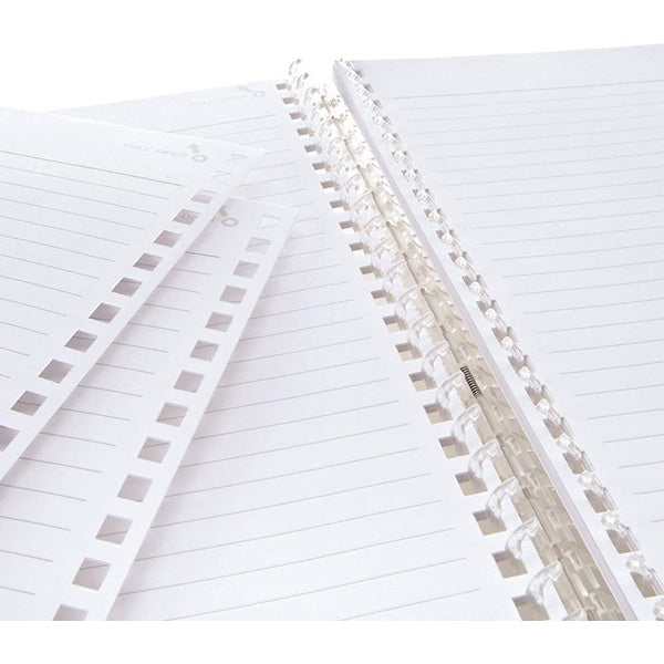 Lihit Lab Twist Ring Notebook Loose Leaf Paper - 29 Holes/30 sheets - Ruled - B5