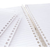 Lihit Lab Twist Ring Notebook Loose Leaf Paper - 29 Holes/30 sheets - Ruled - B5 - Loose Leaf Paper - bunbougu.com.au