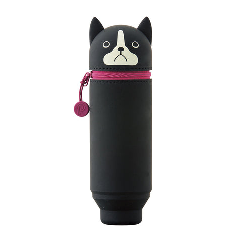 Lihit Lab Small Fit Punilabo Stand Pencil Case - Boston Terrier