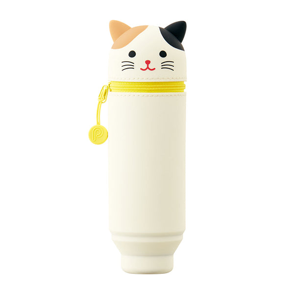 Lihit Lab Smart Fit Punilabo Stand Pencil Case - Mikeneko Cat