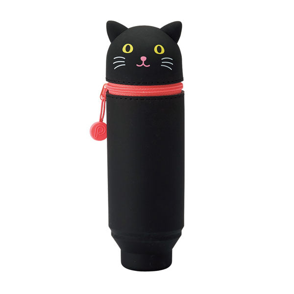 Lihit Lab Small Fit Punilabo Stand Pencil Case - Black Cat - Pencil Case - bunbougu.com.au