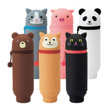 Lihit Lab Smart Fit Punilabo Stand Pencil Case - Panda - Pencil Cases - bunbougu.com.au