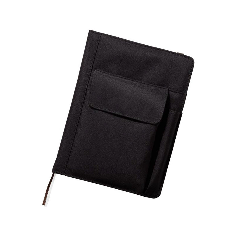 Lihit Lab Smart Fit Multifunction Cover Notebook - Black - A5 - Notebook - bunbougu.com.au