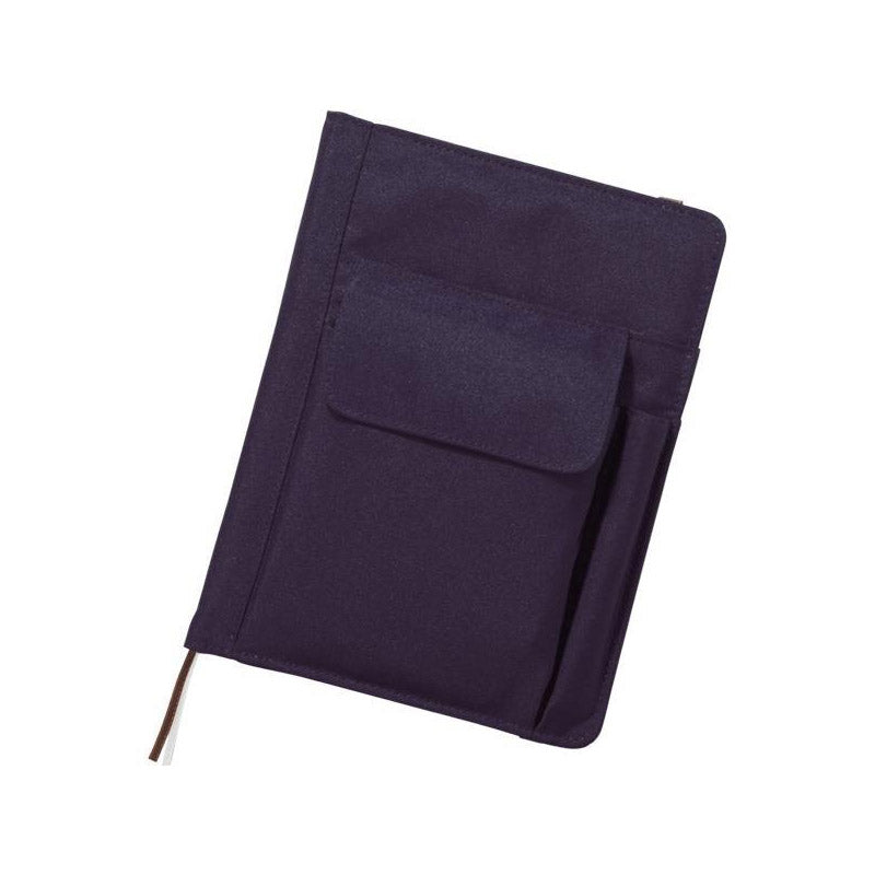 Lihit Lab Smart Fit Multifunction Cover Notebook - Navy - A5 - Notebook - bunbougu.com.au