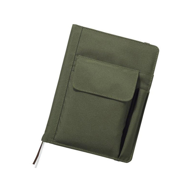 Lihit Lab Smart Fit Multifunction Cover Notebook - Olive - A5 - Notebook - bunbougu.com.au