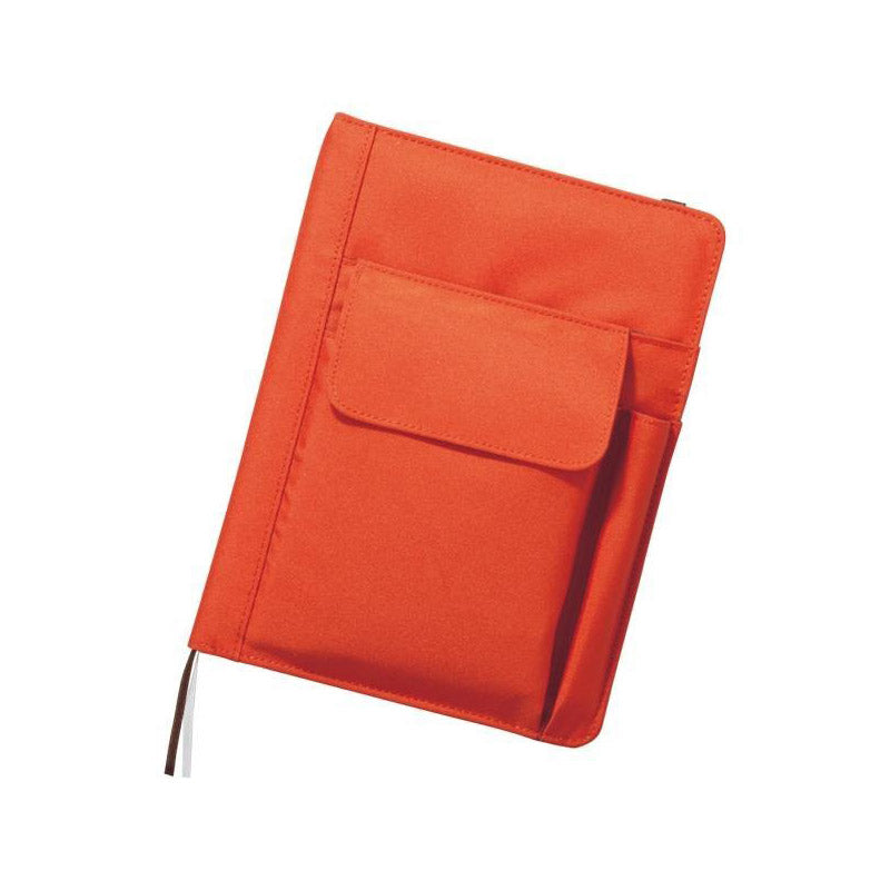 Lihit Lab Smart Fit Multifunction Cover Notebook - Orange - A5