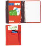 Lihit Lab Smart Fit Multifunction Cover Notebook - Orange - A5 - Notebook - bunbougu.com.au