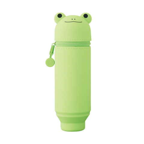 Lihit Lab Smart Fit PuniLabo Stand Pen Case - Limited Edition - Frog - Pencil Case - bunbougu.com.au